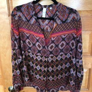 Anthropologie sheer blouse